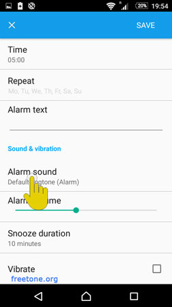 Android 6 Marshmallow Alarm Settings