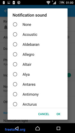 Android 6 Marshmallow Select ringtone